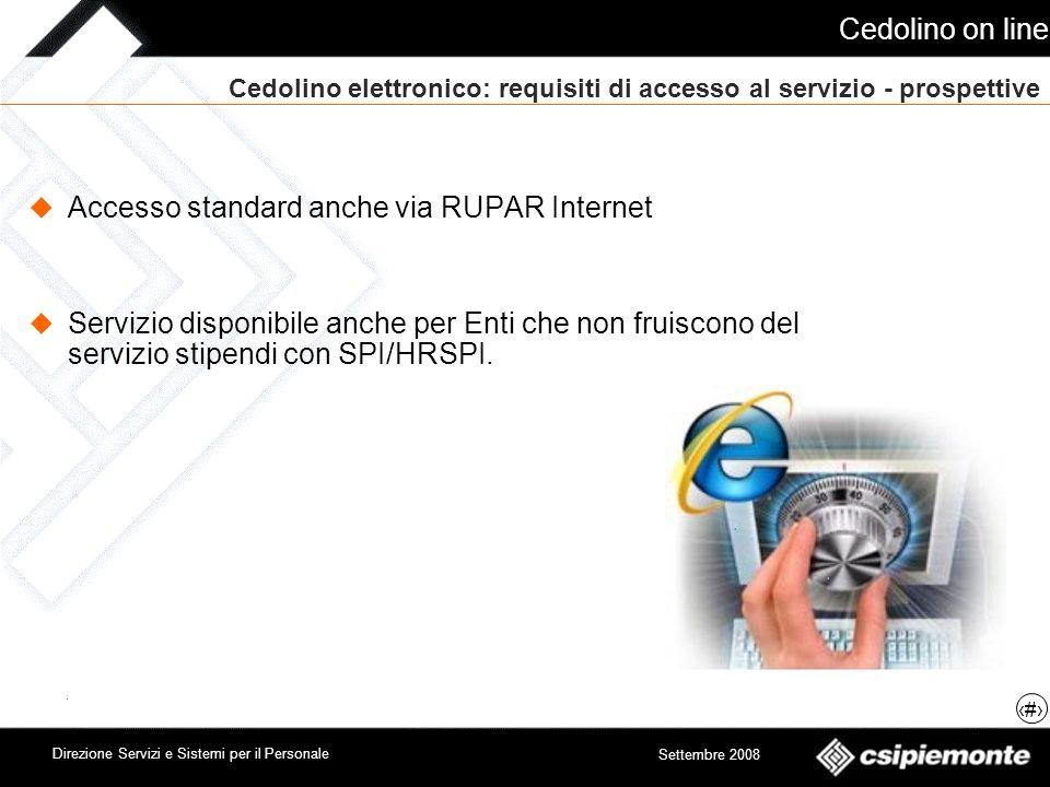 Cedolino elettronico: requisiti di accesso al servizio - prospettive