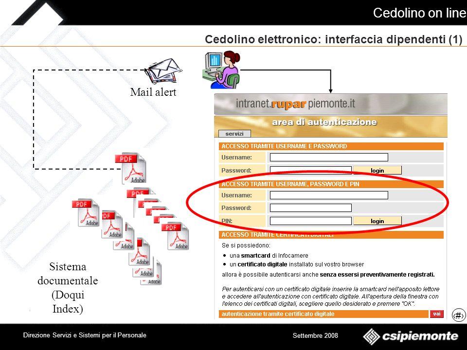 Cedolino elettronico: interfaccia dipendenti (1)