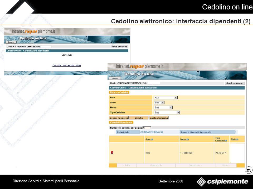 Cedolino elettronico: interfaccia dipendenti (2)