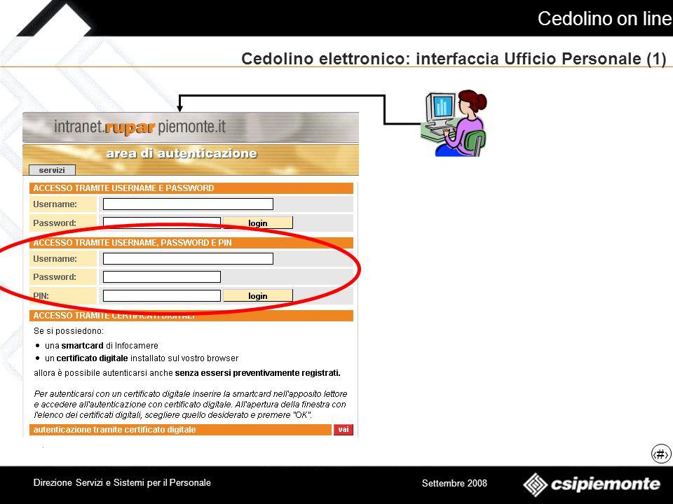 Cedolino elettronico: interfaccia Ufficio Personale (1)