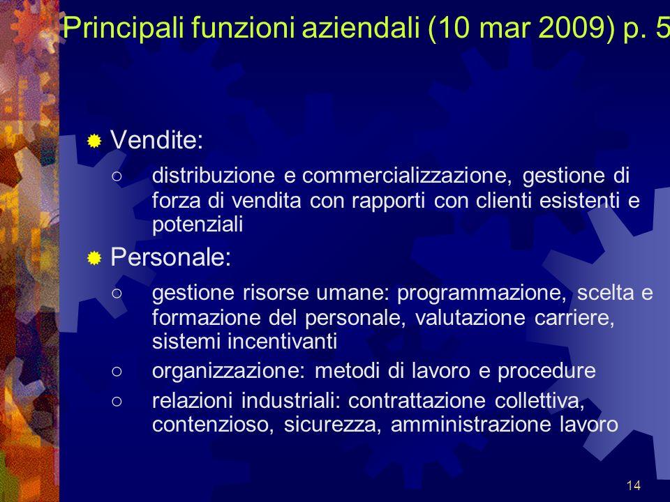 Principali funzioni aziendali (10 mar 2009) p. 5