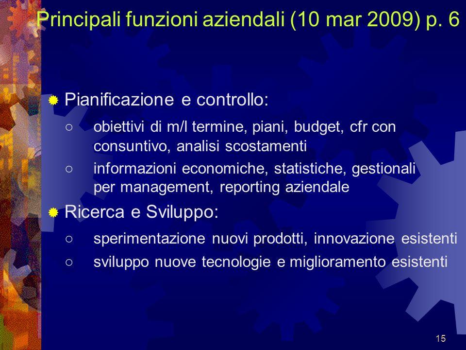 Principali funzioni aziendali (10 mar 2009) p. 6