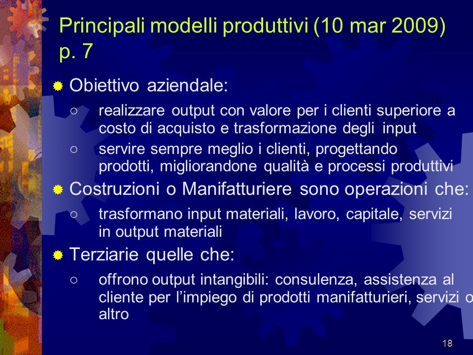 Principali modelli produttivi (10 mar 2009) p. 7