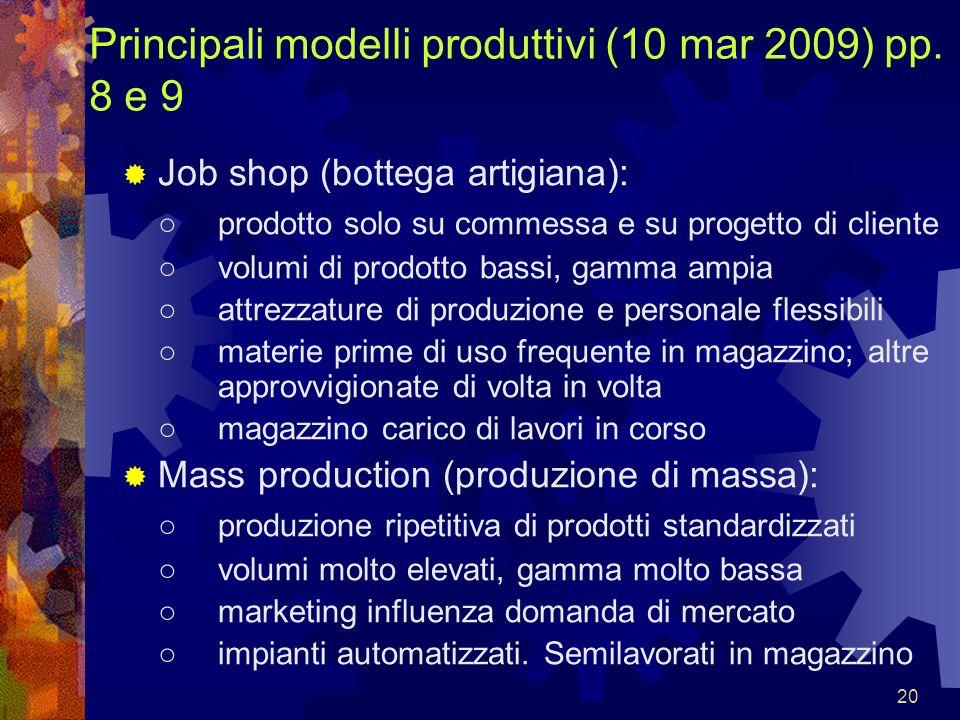 Principali modelli produttivi (10 mar 2009) pp. 8 e 9