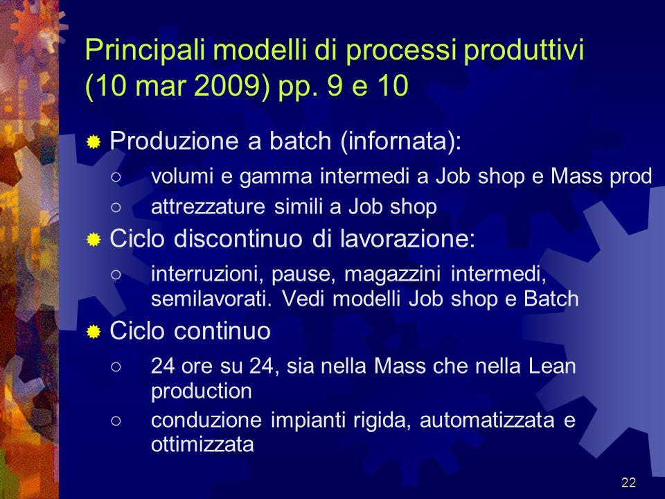 Principali modelli di processi produttivi (10 mar 2009) pp. 9 e 10