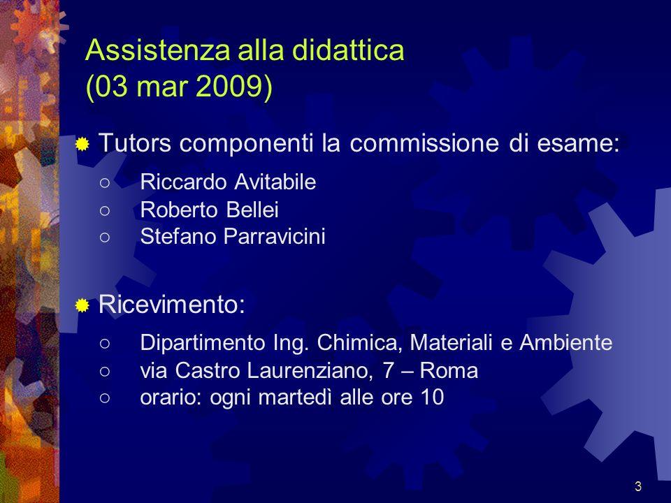 Assistenza alla didattica (03 mar 2009)