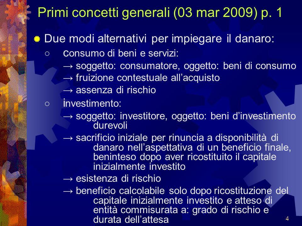 Primi concetti generali (03 mar 2009) p. 1