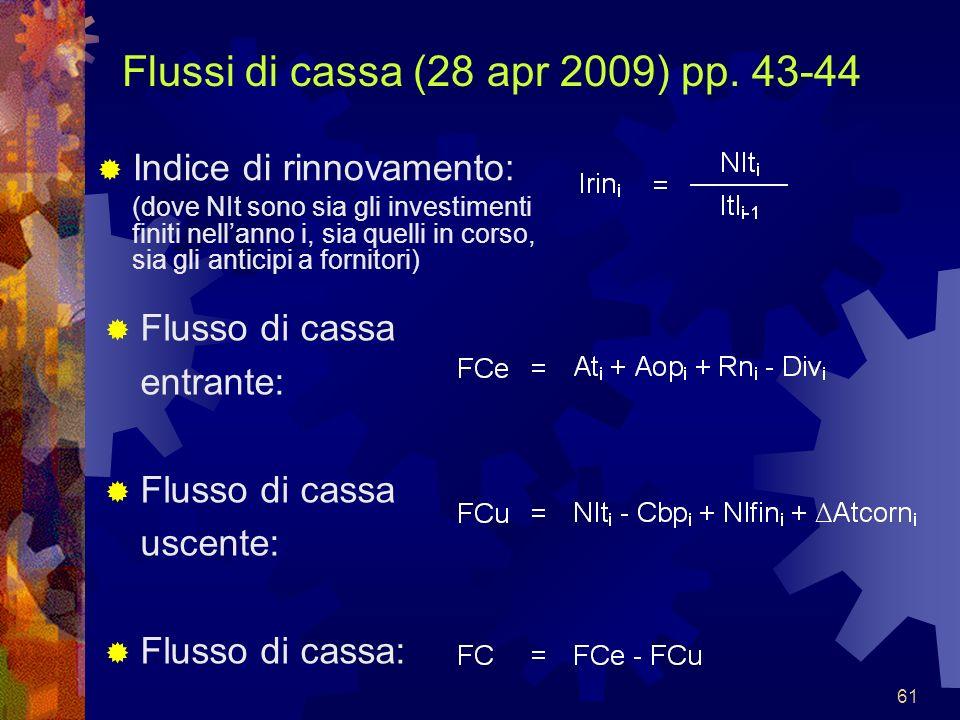 Flussi di cassa (28 apr 2009) pp. 43-44