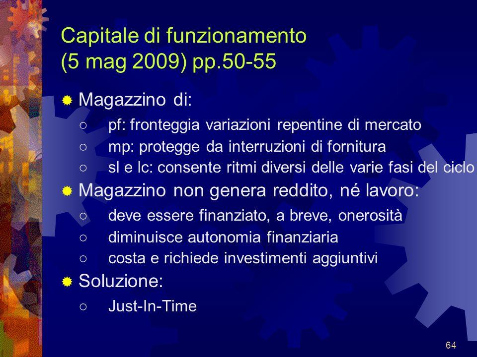 Capitale di funzionamento (5 mag 2009) pp.50-55