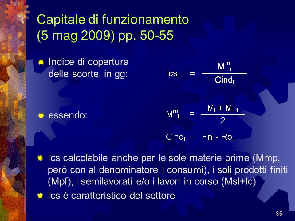 Capitale di funzionamento (5 mag 2009) pp. 50-55
