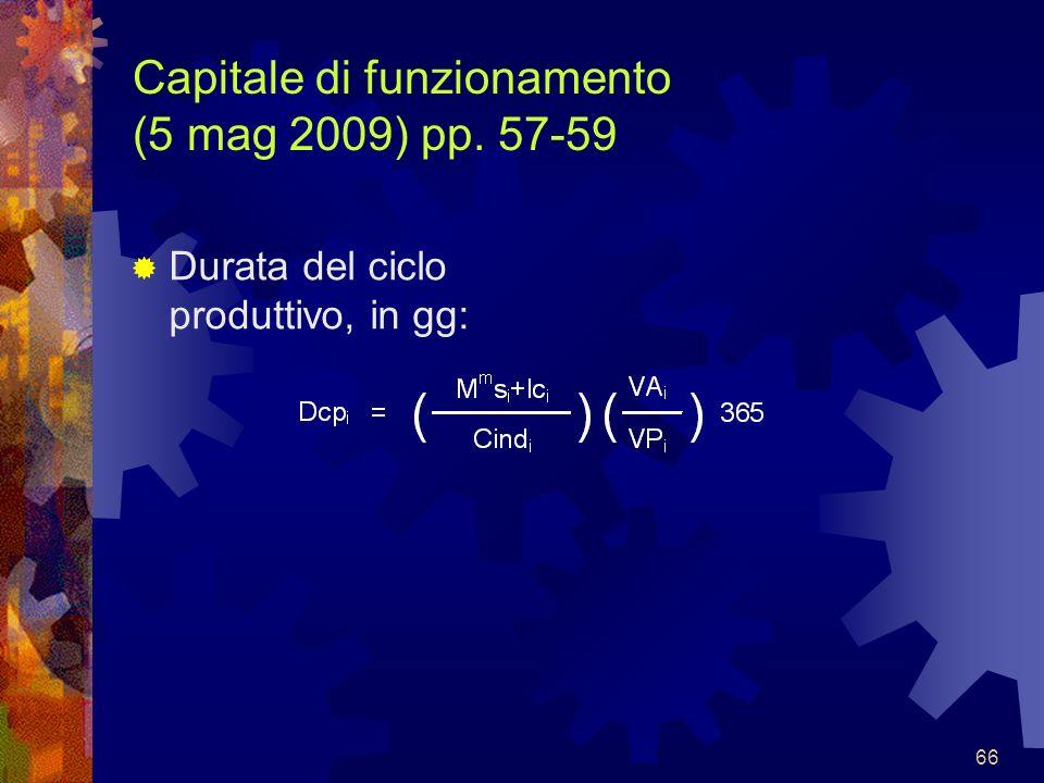 Capitale di funzionamento (5 mag 2009) pp. 57-59
