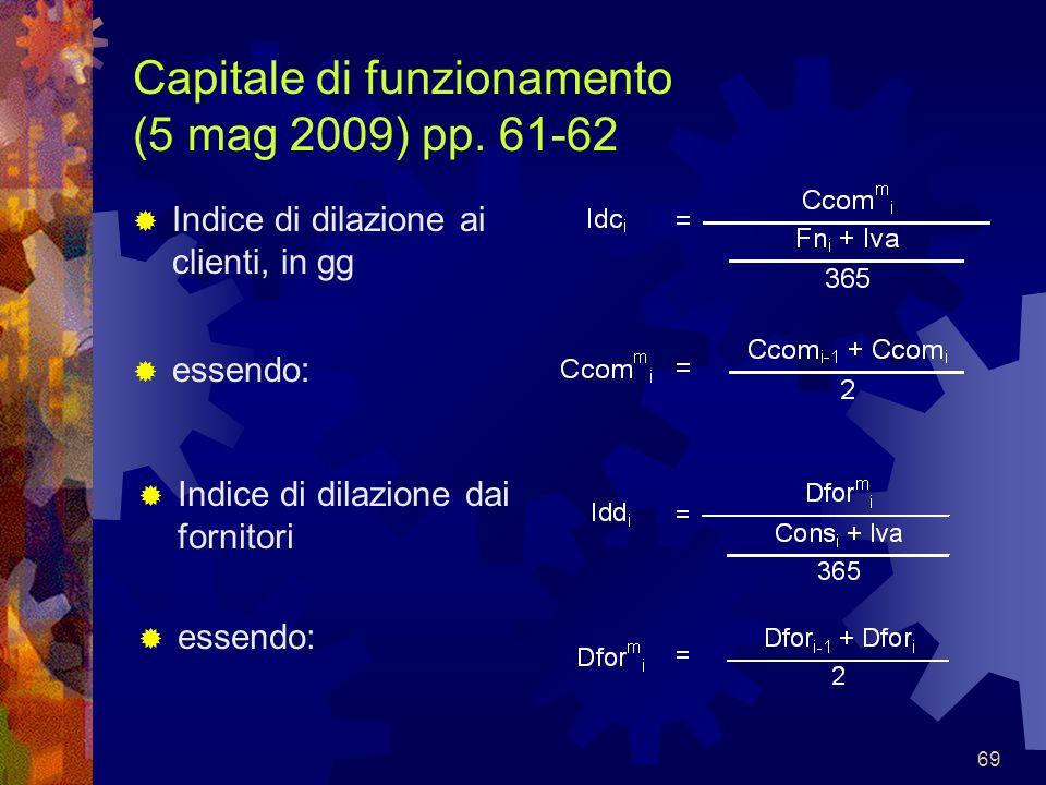 Capitale di funzionamento (5 mag 2009) pp. 61-62