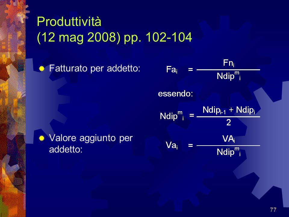 Produttività (12 mag 2008) pp. 102-104