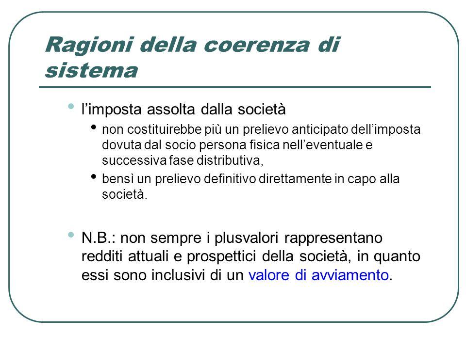 Ragioni della coerenza di sistema