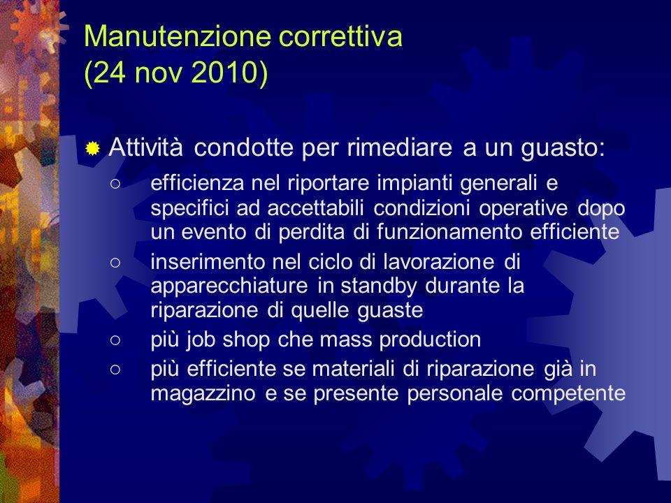 Manutenzione correttiva (24 nov 2010)