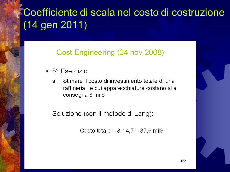 Coefficiente di scala nel costo di costruzione (14 gen 2011)