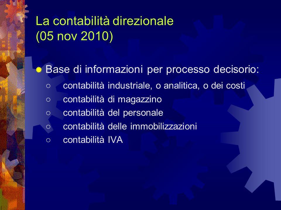 La contabilità direzionale (05 nov 2010)