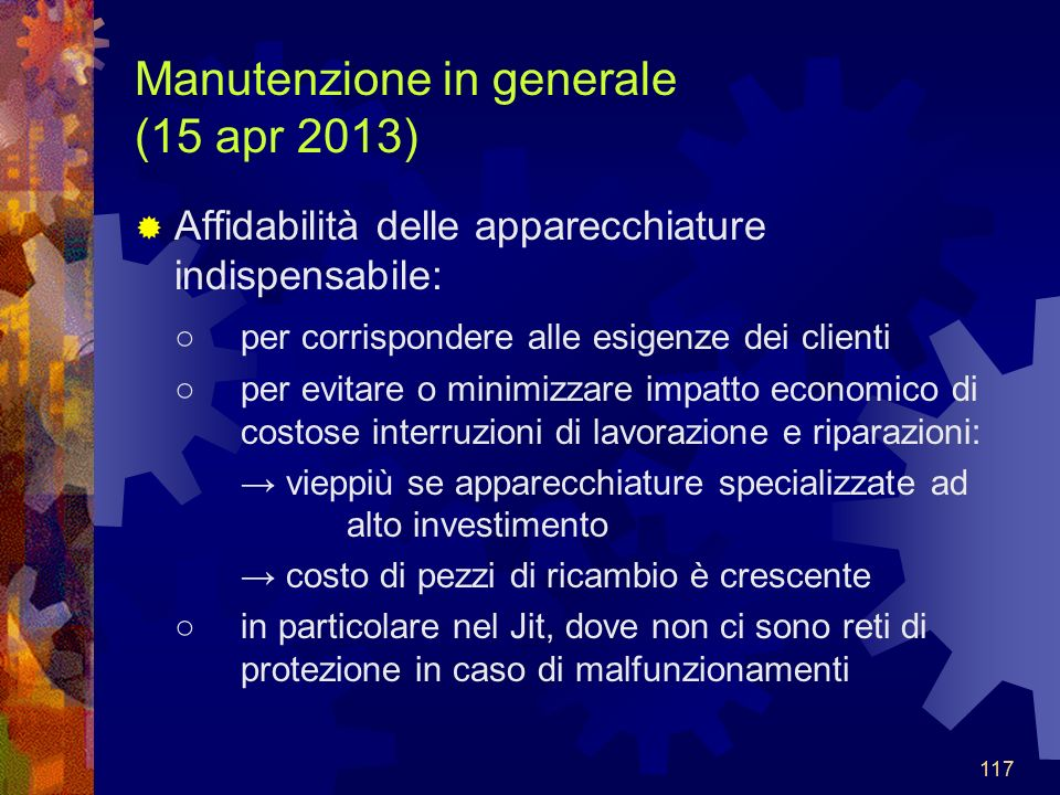 Manutenzione in generale (15 apr 2013)