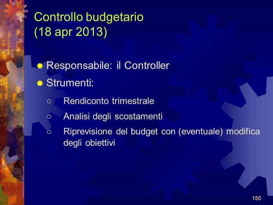 Controllo budgetario (18 apr 2013)