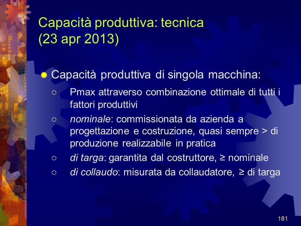 Capacità produttiva: tecnica (23 apr 2013)