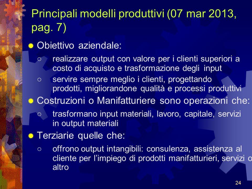 Principali modelli produttivi (07 mar 2013, pag. 7)