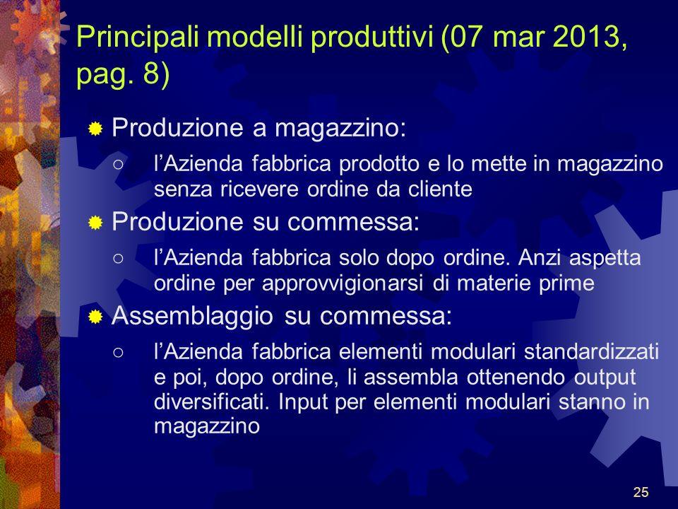 Principali modelli produttivi (07 mar 2013, pag. 8)