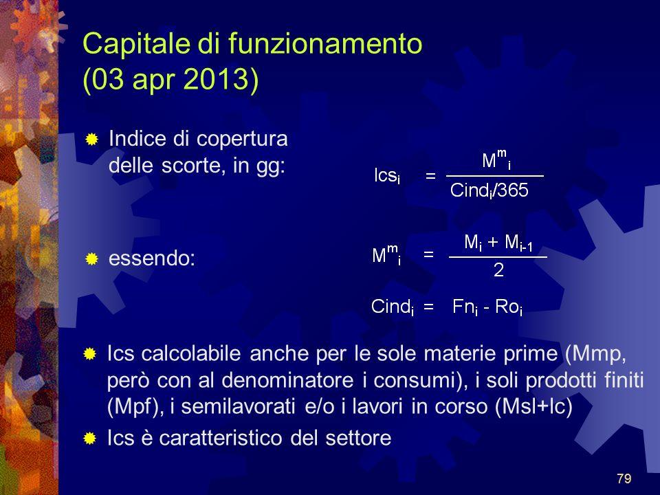 Capitale di funzionamento (03 apr 2013)