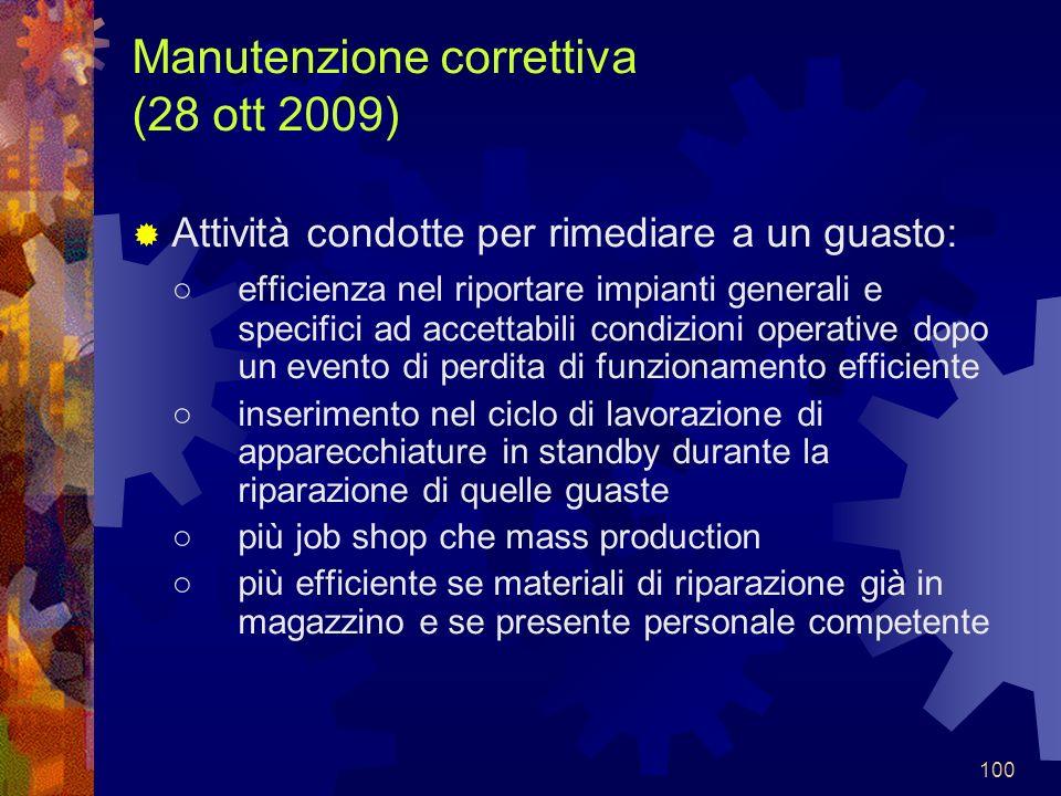 Manutenzione correttiva (28 ott 2009)