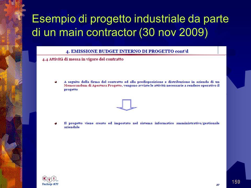 Esempio di progetto industriale da parte di un main contractor (30 nov 2009)