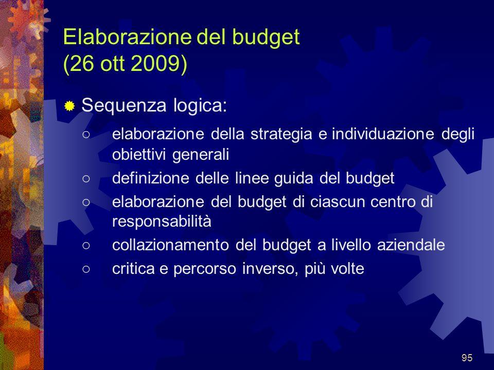 Elaborazione del budget (26 ott 2009)