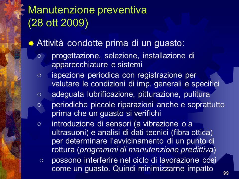 Manutenzione preventiva (28 ott 2009)