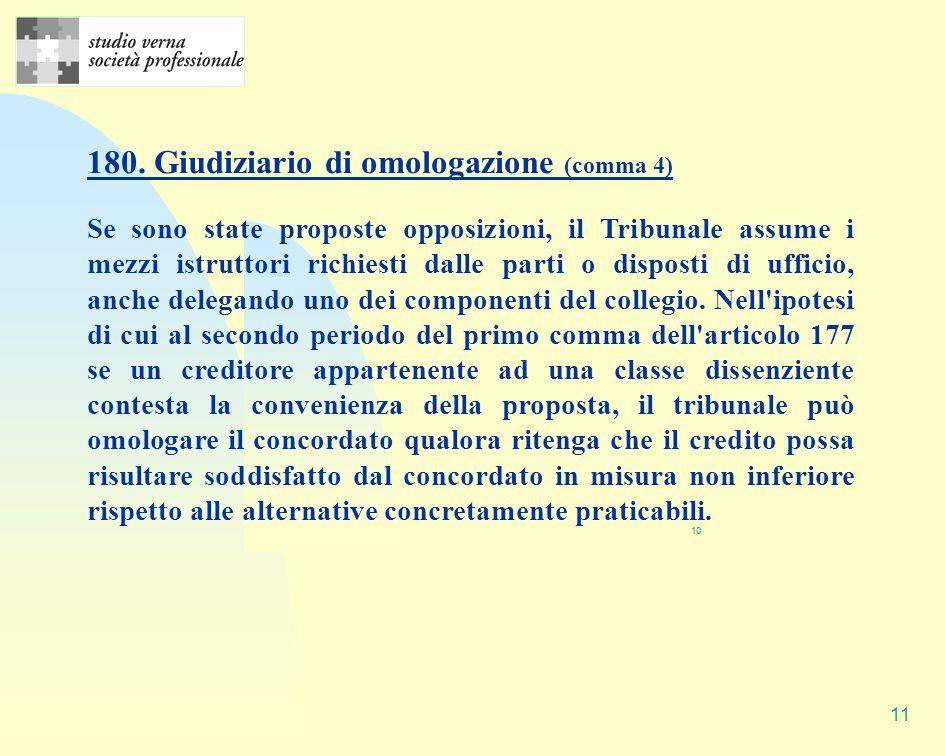 180. Giudiziario di omologazione (comma 4)
