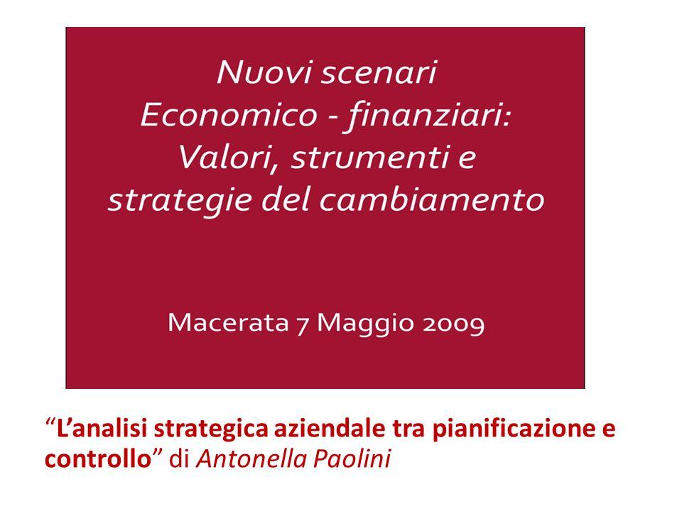 L'analisi strategica aziendale tra pianificazione e controllo di Antonella Paolini