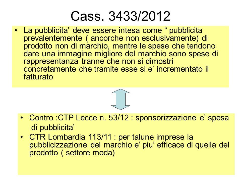 Cass. 3433/2012