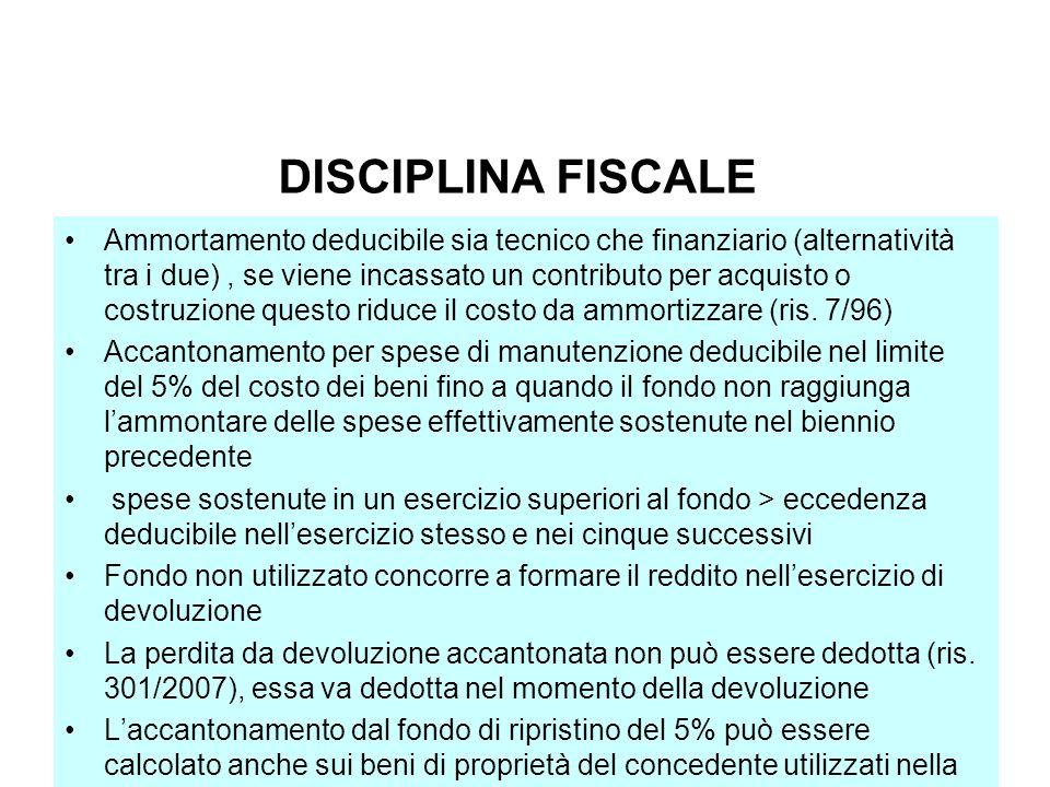 ACE BILANCIO DISCIPLINA FISCALE.
