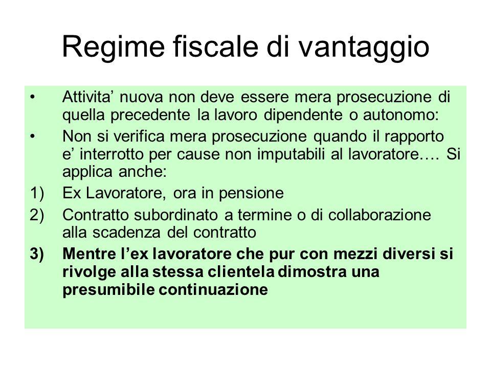 Regime fiscale di vantaggio
