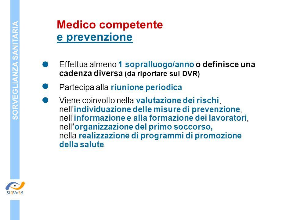 Medico competente e prevenzione