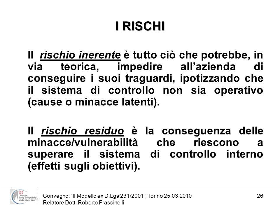 I RISCHI