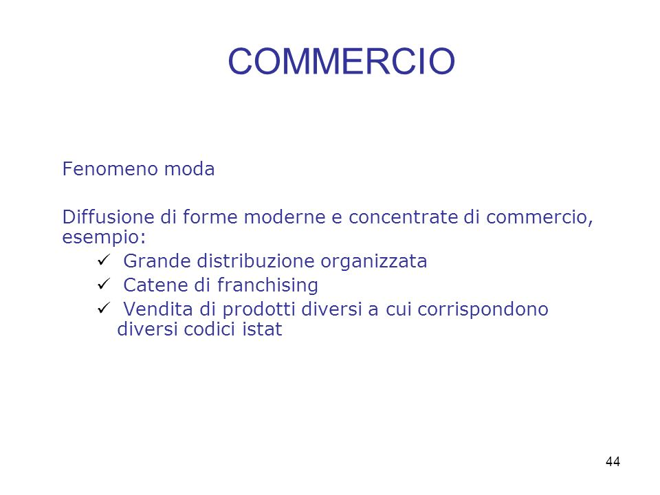 COMMERCIO Fenomeno moda