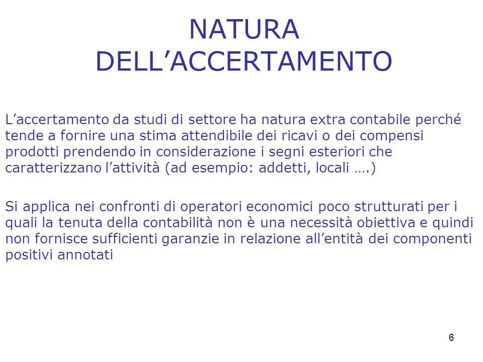 NATURA DELL'ACCERTAMENTO