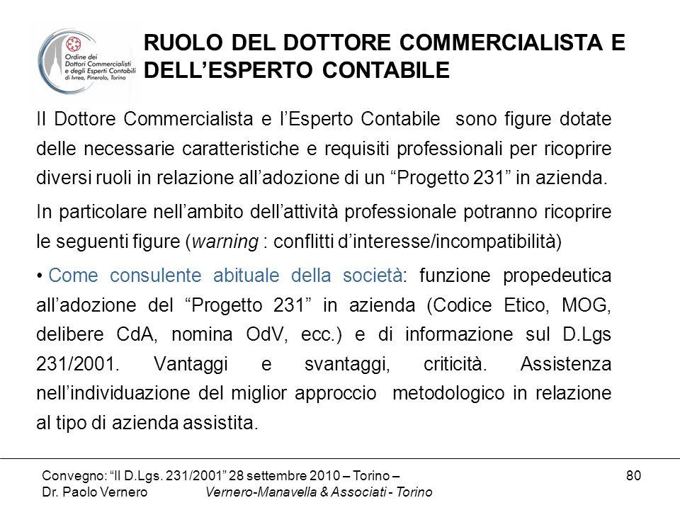 RUOLO DEL DOTTORE COMMERCIALISTA E DELL'ESPERTO CONTABILE