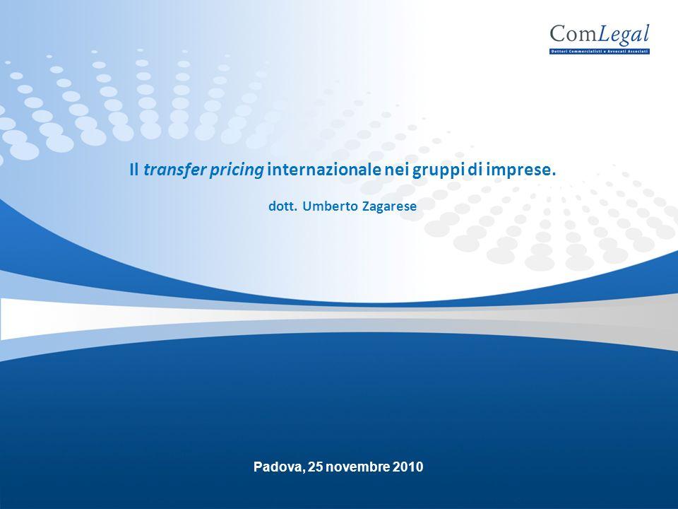 Il transfer pricing internazionale nei gruppi di imprese.