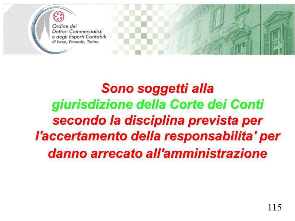 giurisdizione della Corte dei Conti SEGRETERIA PROVINCIALE - TORINO