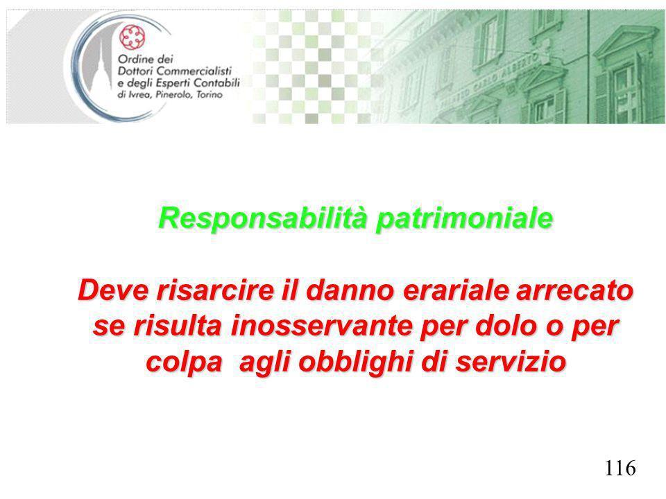 Responsabilità patrimoniale SEGRETERIA PROVINCIALE - TORINO