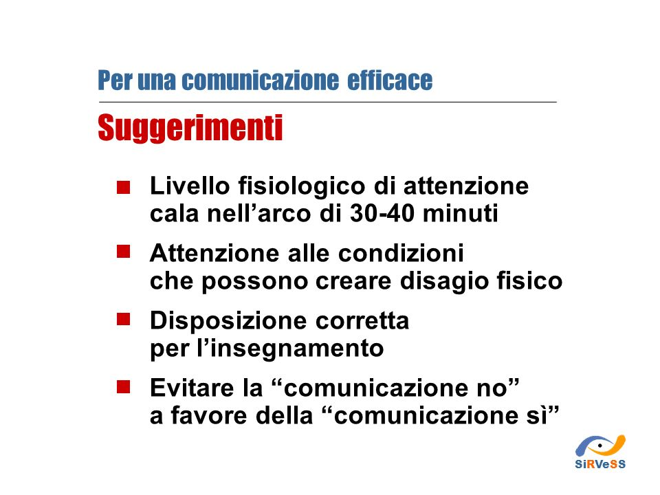 Suggerimenti Per una comunicazione efficace