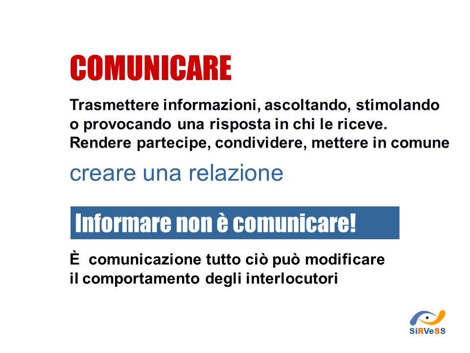 COMUNICARE creare una relazione Informare non è comunicare!