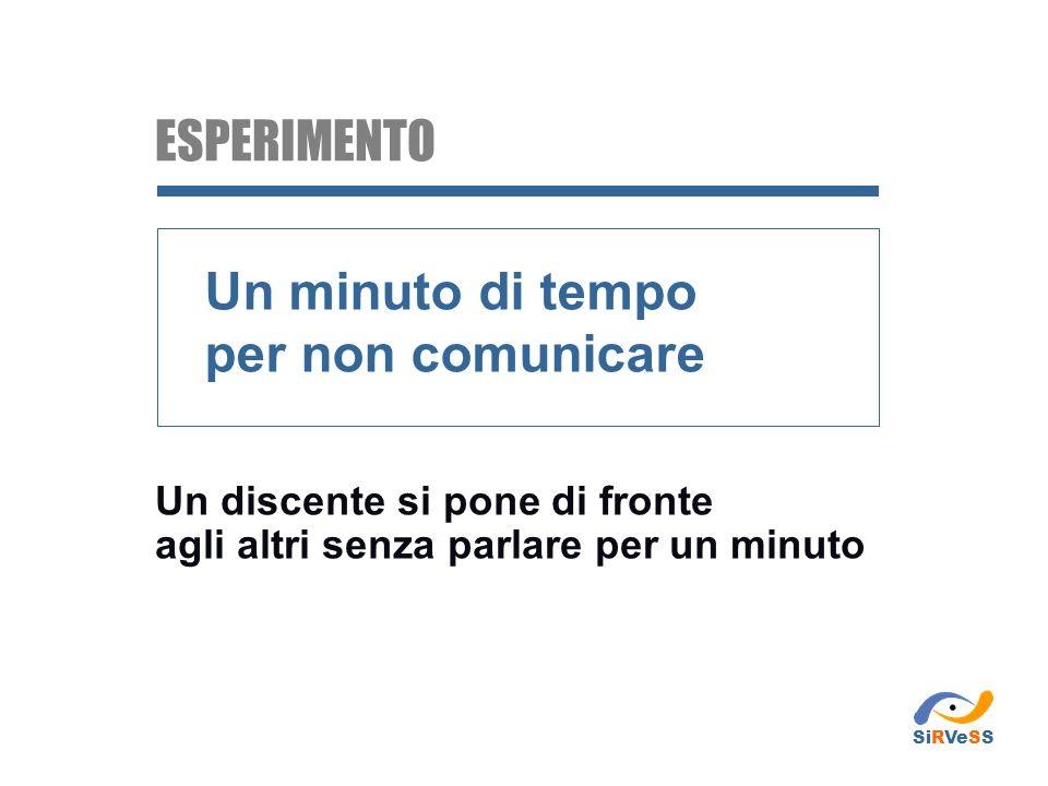 ESPERIMENTO Un minuto di tempo per non comunicare
