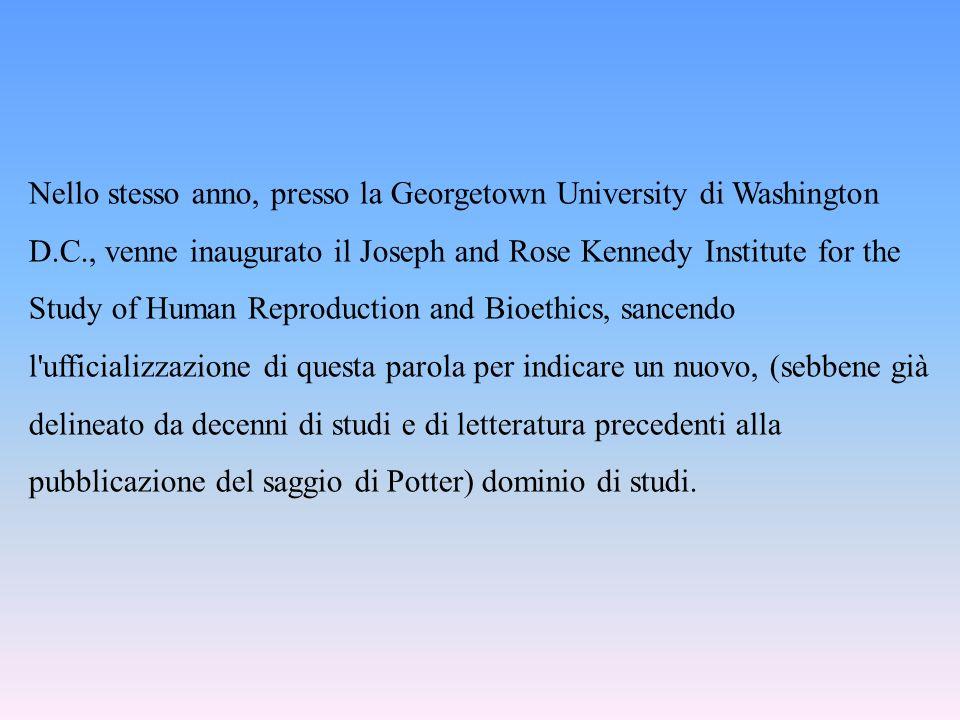 Nello stesso anno, presso la Georgetown University di Washington D. C