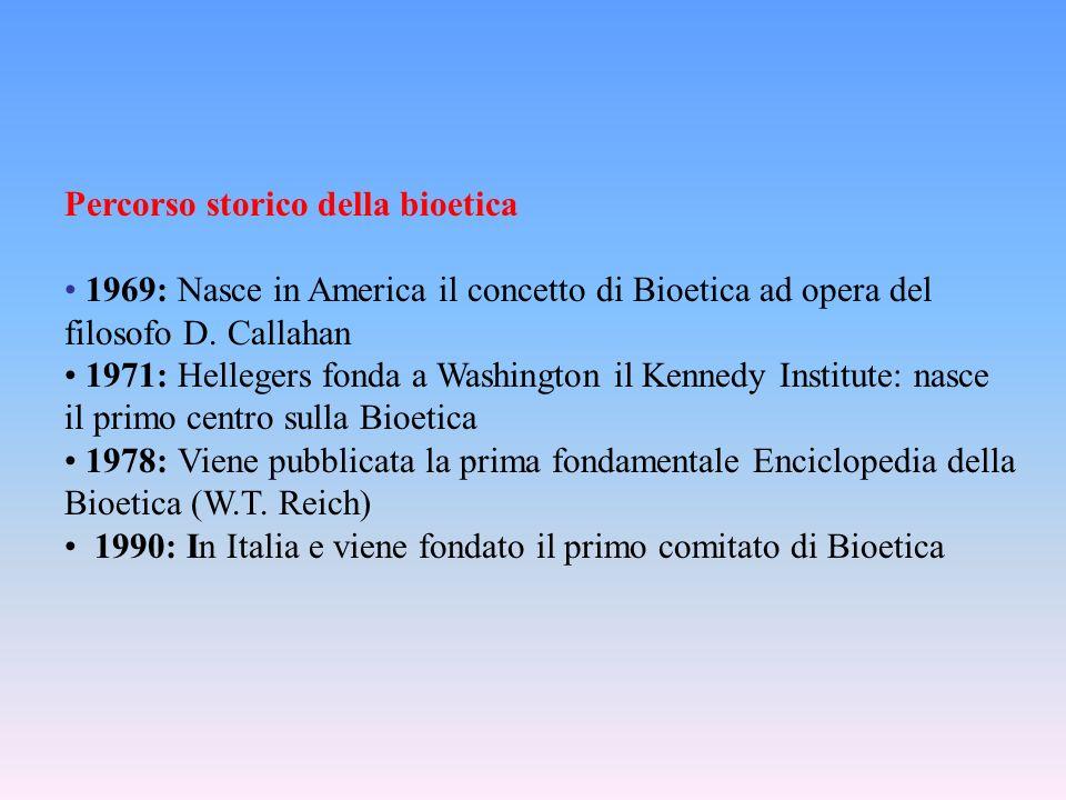 Percorso storico della bioetica