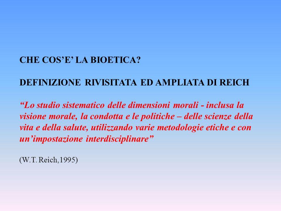 DEFINIZIONE RIVISITATA ED AMPLIATA DI REICH